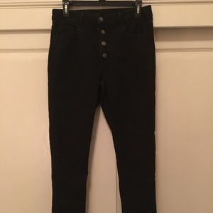 High Waisted Skinny Jeans 4 Button Fly